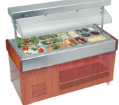 restaurant equipement such as hot display, salad station, under counter chiller and freezer